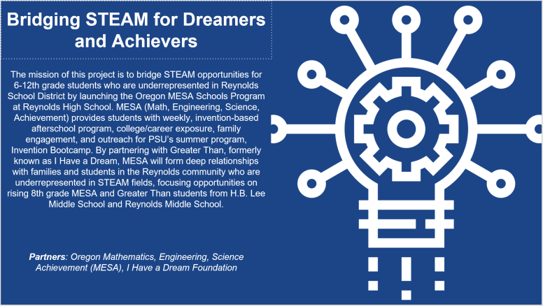 Bridging STEAM for Dreamers and Achievers